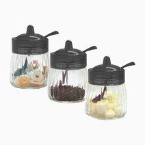 Glass Jar (400ml) - Set of 3 by Sunbeams Lifestyle