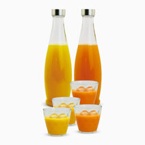 Re glass pitcher and bottle set
