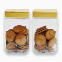 Food Jar w/ Bamboo Lid (1500ml) - Set of 2 by Sunbeams Lifestyle