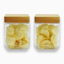 Re food jar with bamboo wooden lid %281000ml%29   set of 2