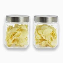Food Jar w/ Metallic Lid (1000ml) - Set of 2 by Sunbeams Lifestyle