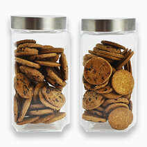 Re food jar with metallic lid %282000ml%29   set of 2