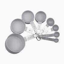 Premium Stackable Measuring Cup + Spoon Set (Set of 8) (Grey) by Sunbeams Lifestyle