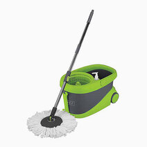 Re spin mop bucket with wheels and one replacement microfiber mop heads