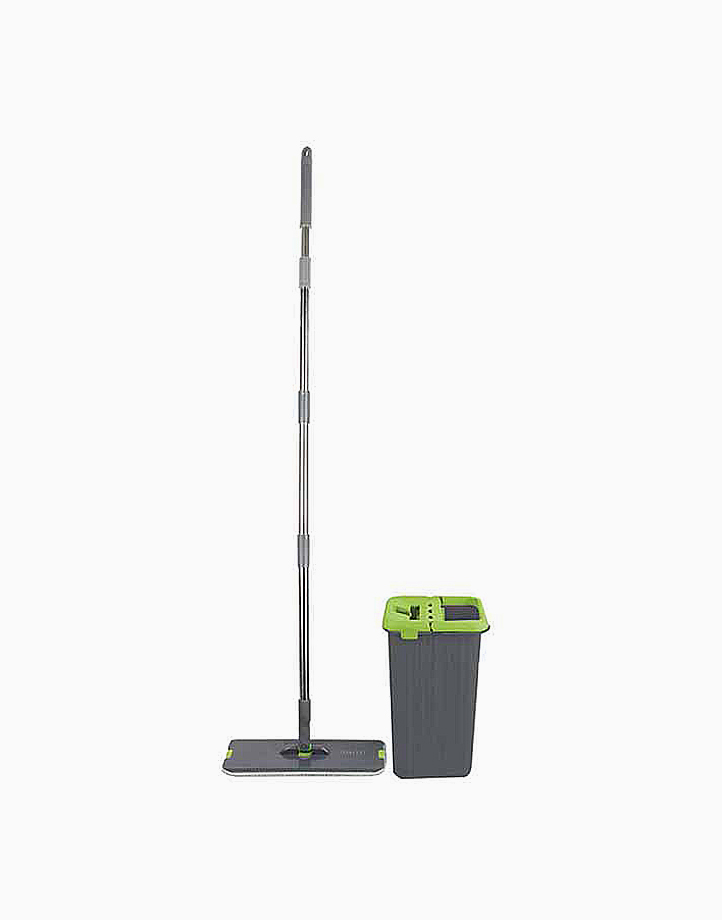 Flat Mop with Microfiber Pad by Sunbeams Lifestyle