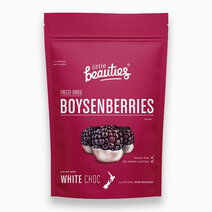 Re boysenberries with white choco