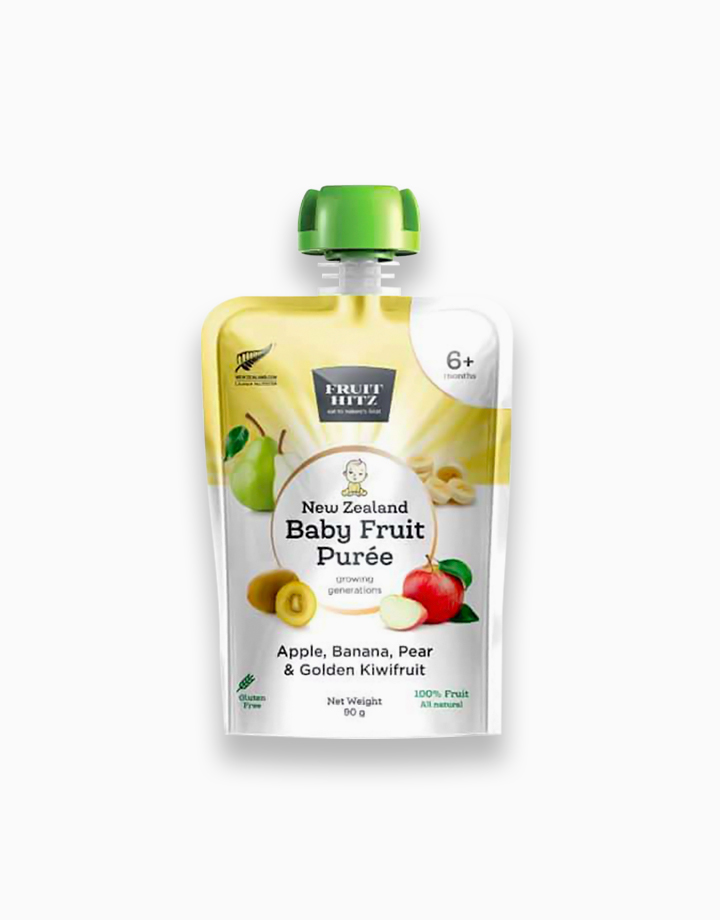 Baby Fruit Puree - Apple, Banana, Pear, & Golden Kiwifruit by New Zealand Apple Products