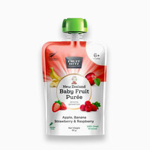 Baby fruit puree apple  banana  strawberry  raspberry