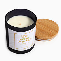 Ambered Sandalwood Scented Soy Candle (275ml) by Happy Island