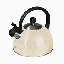 Slique beige marble colored whistling kettle %283.5l%29