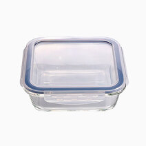 Square glass food container %28360ml%29