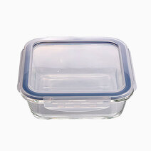 Square glass food container %28550ml%29