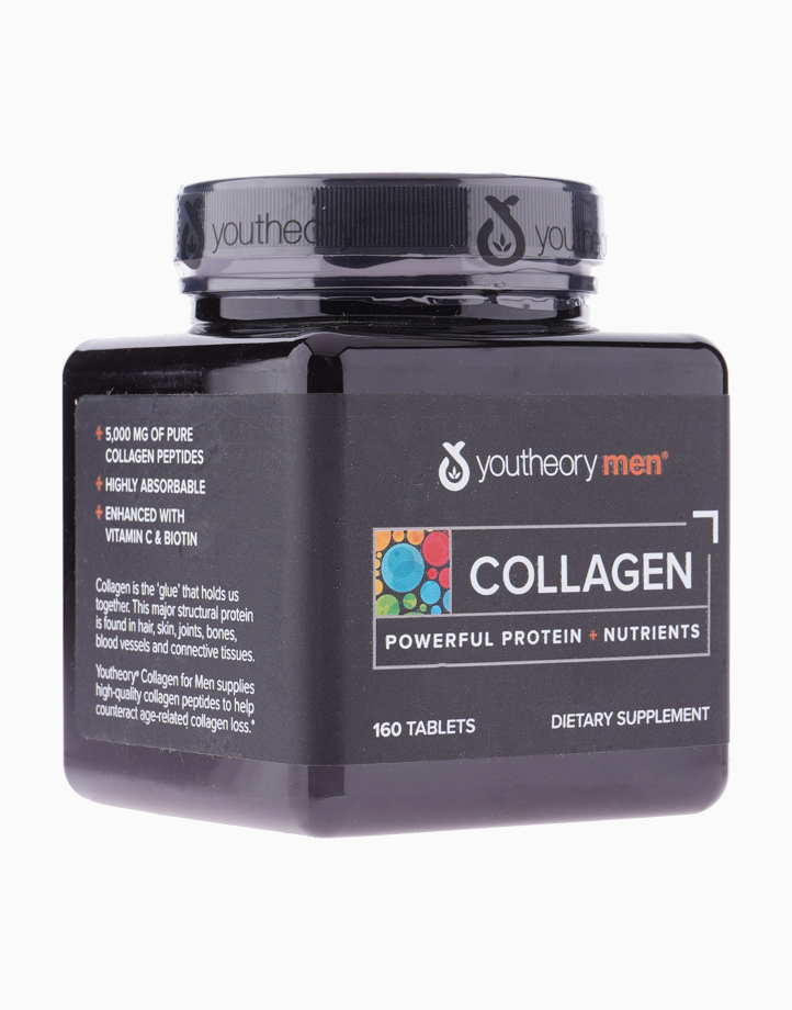 Collagen for Men with Biotin, Vitamin C and 18 Amino Acids (1 Bottle, 160 Tablets) by Youtheory