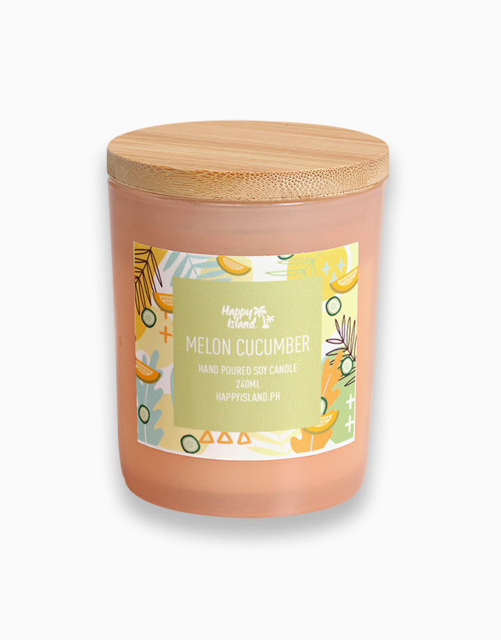 Melon & Cucumber Soy Candle (8oz/240ml) by Happy Island