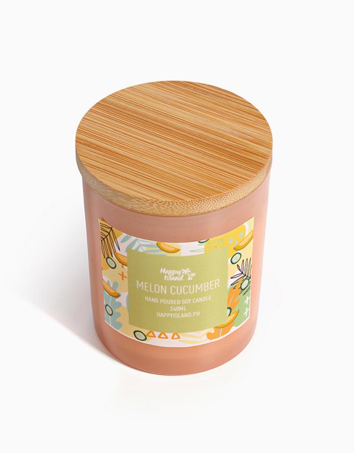 Melon & Cucumber Soy Candle (8oz/240ml) by Happy Island