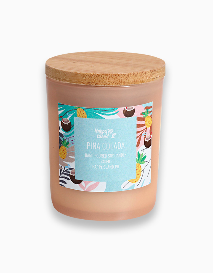 Piña Colada Soy Candle (8oz/240ml) by Happy Island