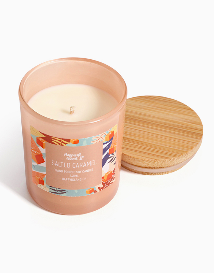 Salted Caramel Soy Candle (8oz/240ml) by Happy Island