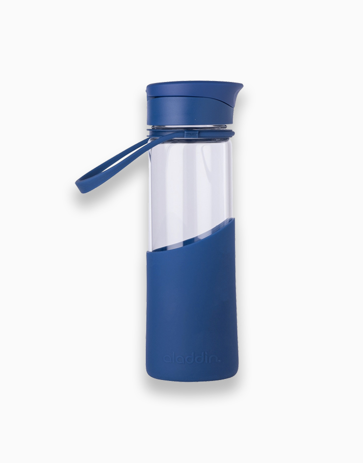Enjoy Glass Water Bottle (0.5L) by Aladdin | Blue