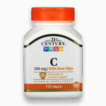 Vitamin C w/ Rose Hips (500mg, 110 Tablets) by 21st Century