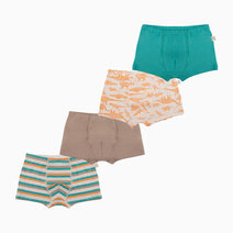 Move Rock Four-Pack Boxer Briefs for Boys by Meet My Feet