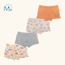Move Strummer Four-Pack Boxer Briefs for Boys by Meet My Feet