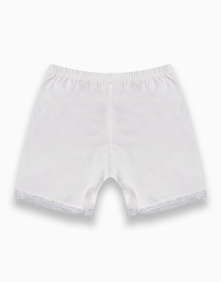 Move Selah Innerwear Shorts for Girls - White by Meet My Feet | 110