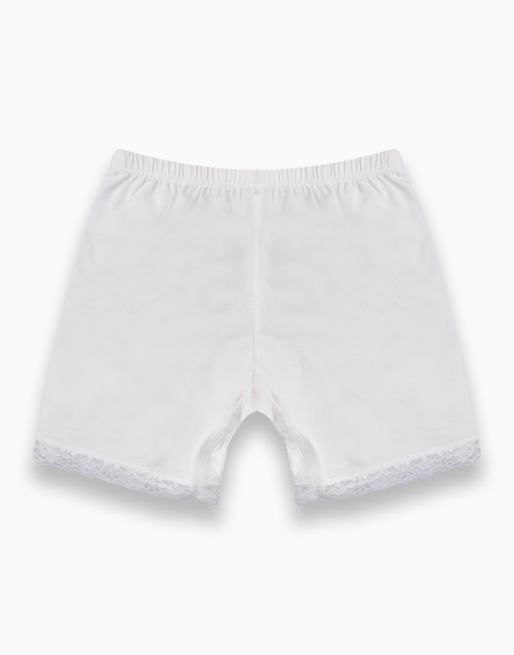 Move Selah Innerwear Shorts for Girls - White by Meet My Feet | 150