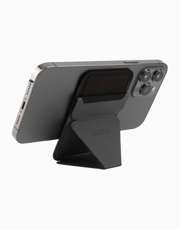 MagSafe Snap On Phone Stand and Wallet by MOFT | Ash Gray