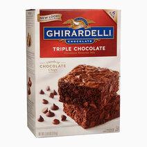 Re ghirardelli triple chocolate premium brownie mix %283.4kg%29