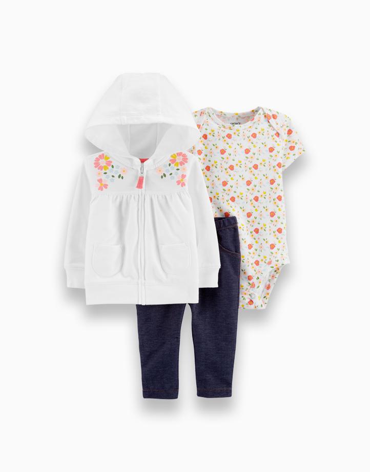 3-Piece Floral Little Jacket Set by Carter's | NB