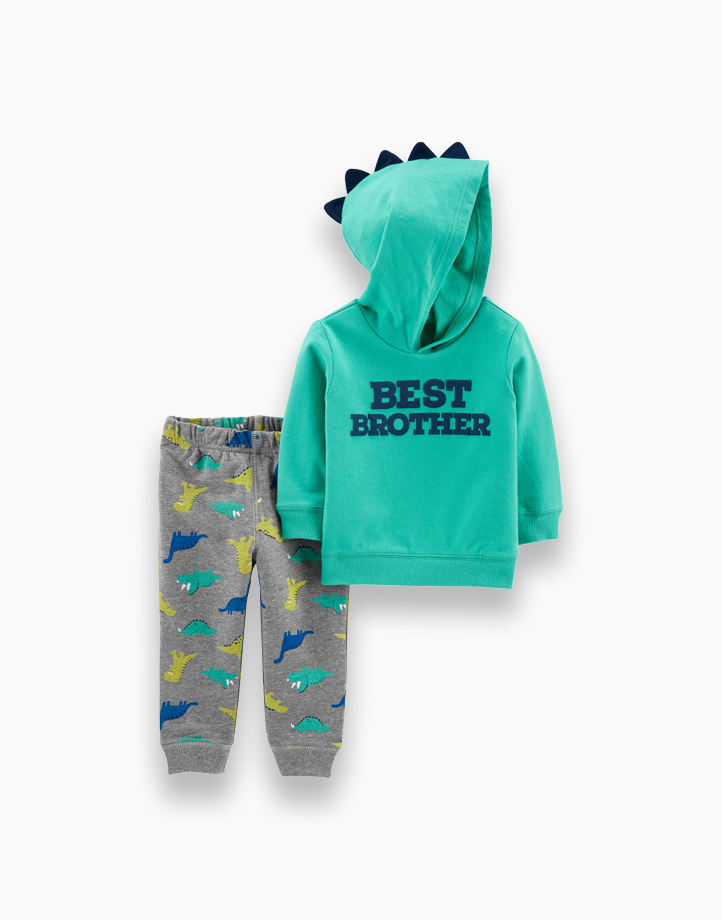 2-Piece Best Brother Hoodie & Dinosaur Jogger Set by Carter's   NB