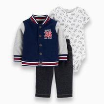 Re carter s baby boy 3 piece varsity little jacket set