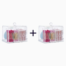 Re b1t1 lulu travels 3 compartment acrylic cosmetic organizer %28no. 6014%29