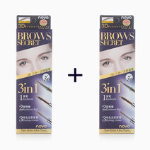 Re b1t1 novo cosmetics 3 in 1 brows secret light brown