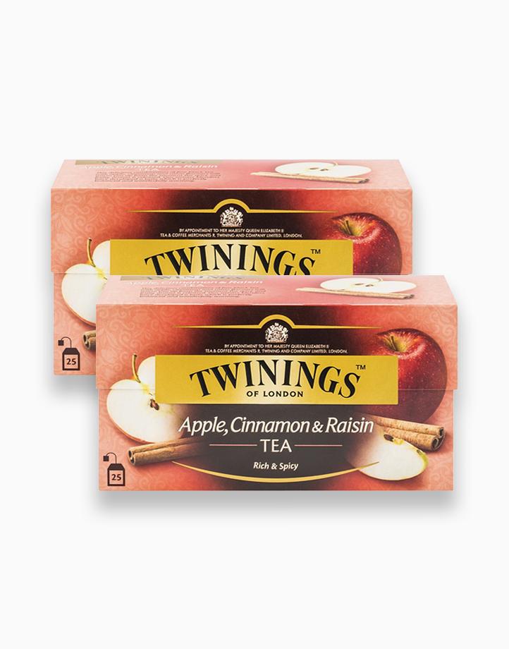 Apple, Cinnamon & Raisin Tea 25s (Bundle of 2) by Twinings