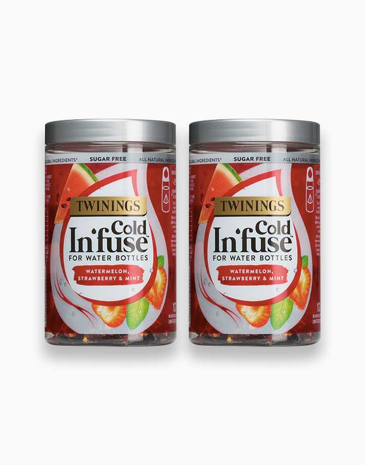 Cold Infuse Watermelon, Strawberry & Mint Jar 12s (Bundle of 2) by Twinings