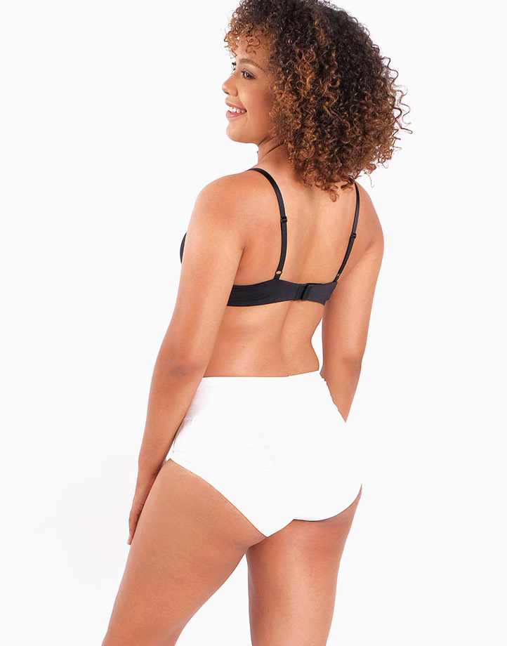 Belly Bikinis in White (Set of 3 High Rise Control Panties) by Jellyfit | Large