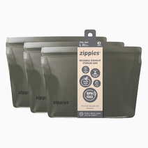 Re zippies steel grey reusable stand up storage bags   large