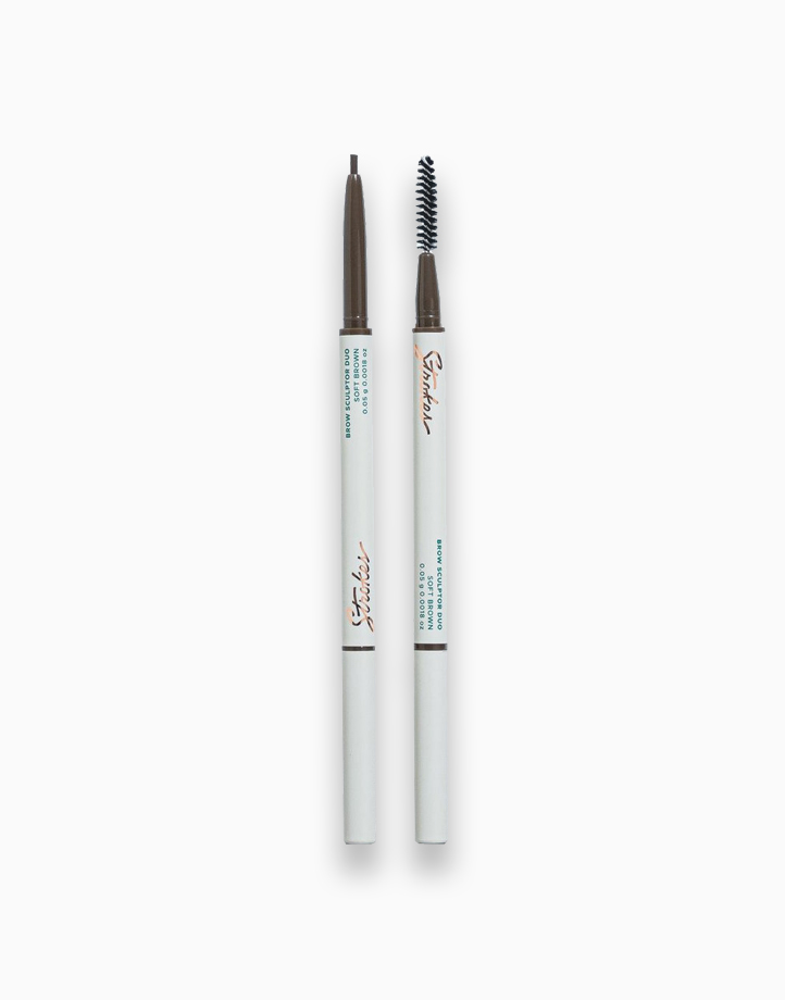 Brow Sculptor Duo by Strokes Beauty Lab | Soft Brown