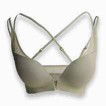 Front Clasp Light Padded Push Up Bra with Semi Wide Wing (Green) by Adam & Eve