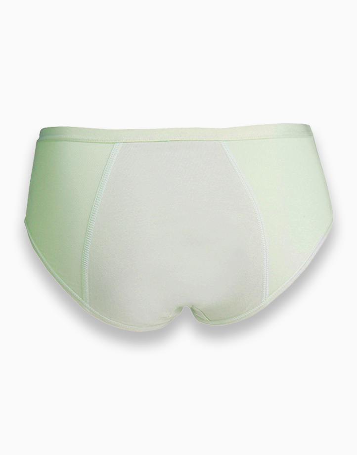 Post Natal Breathable Pure Cotton Leak Proof Period Panty (Green) by Adam & Eve | Large