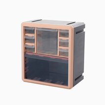 Qubit octa cube   pink frame   gray body