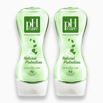 Ph care daily feminine wash natural protection 250ml x 2