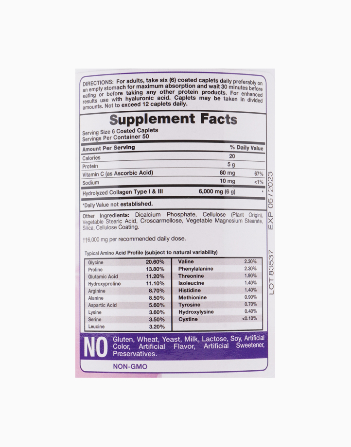 Hydrolyzed Collagen with Vitamin C (300 Capsules) by Piping Rock