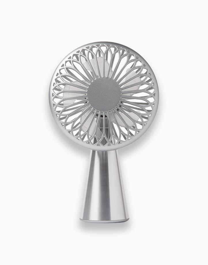 Wino Mini Handheld Fan with Wireless Charging by Lexon   Aluminum