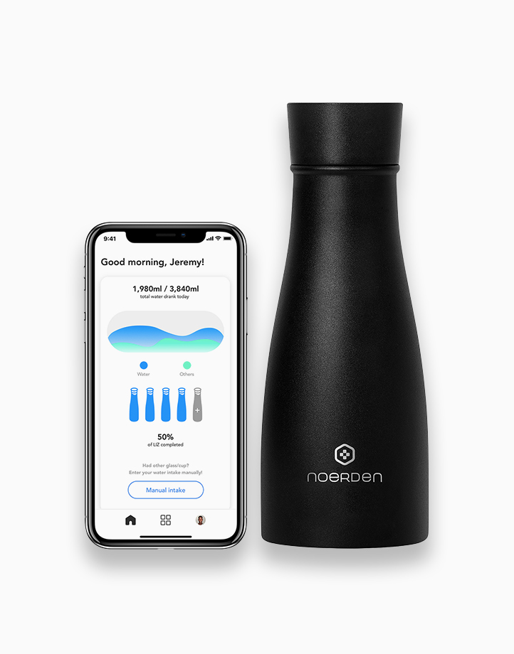Liz Smart Bottle (350ml) - Black by Noerden
