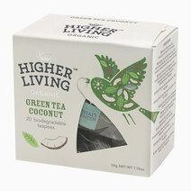Re higher living organic green tea coconut %2820 teapees%29 50g