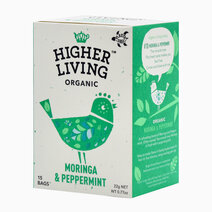 Re higher living organic moringa  peppermint %2815 bags%29 22g