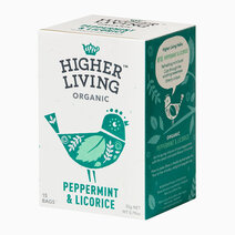 Re higher living organic peppermint  licorice %2815 bags%29 22g