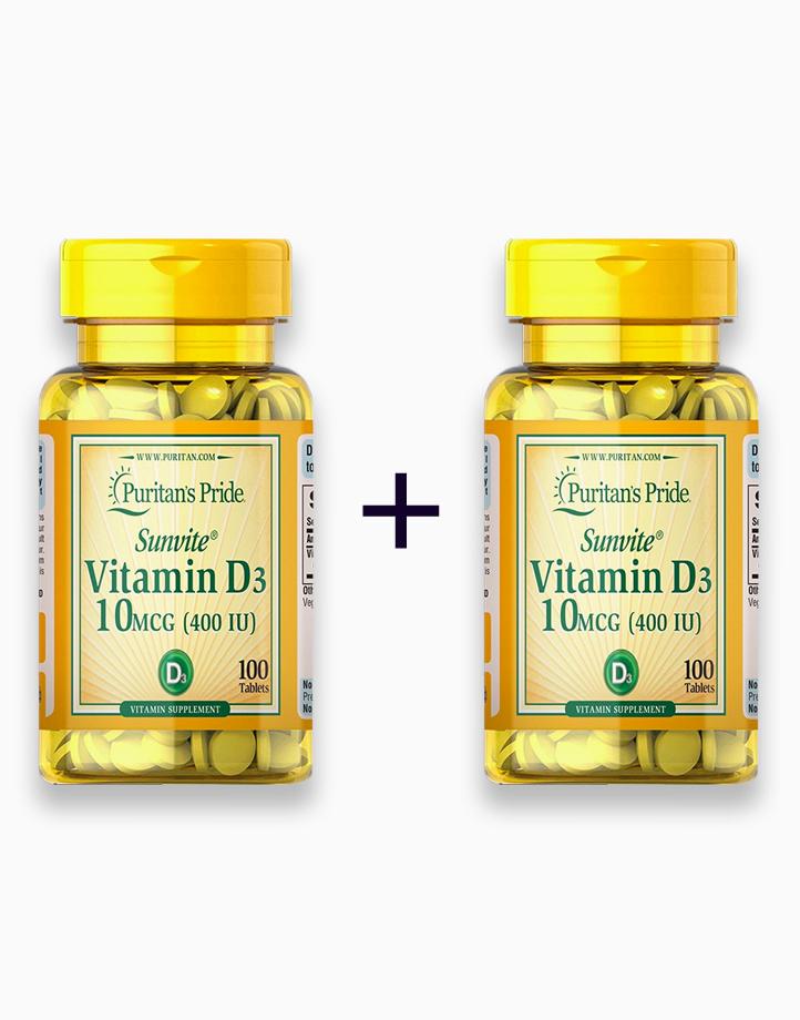 Vitamin D3 400 IU (100 Tablets) (Buy 1, Take 1) by Puritan's Pride